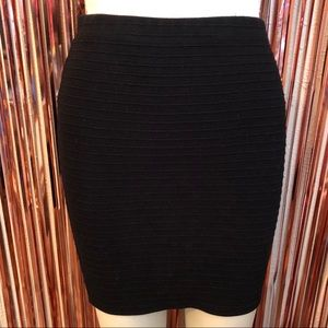 Black Ribbed Skirt